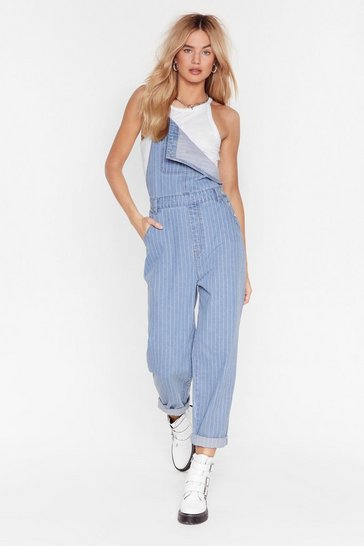 Light blue Stripe Up My Life Denim Dungarees