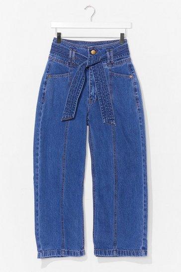 Vintage wash Tie Me Cropped Wide-Leg Jeans