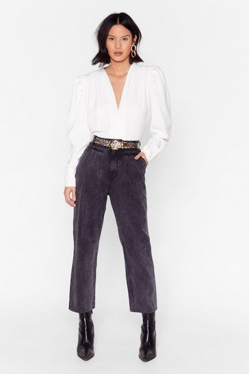 Washed black Found a Hidden Hem High-Waisted Mom Jeans