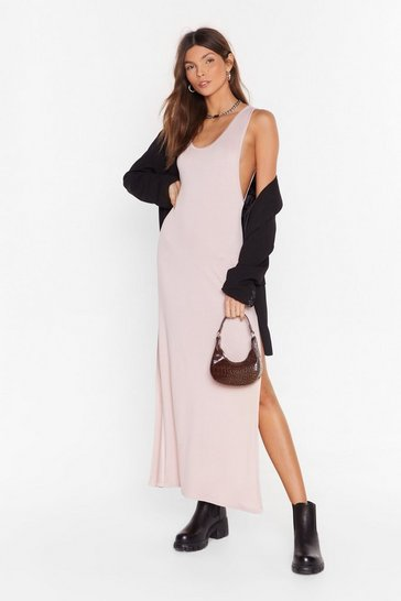 Salmon My Ride Or Side Midi Dress