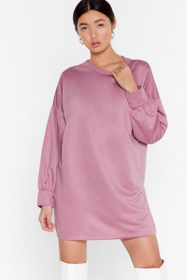 Mink Bored of This Mini Sweatshirt Dress