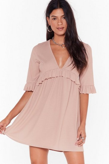 Sand Smock 'Em Dead Ribbed Mini Dress