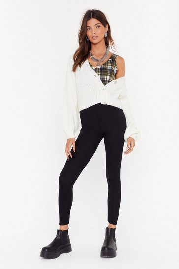 Black No One Fits Me Better High-Waisted Leggings