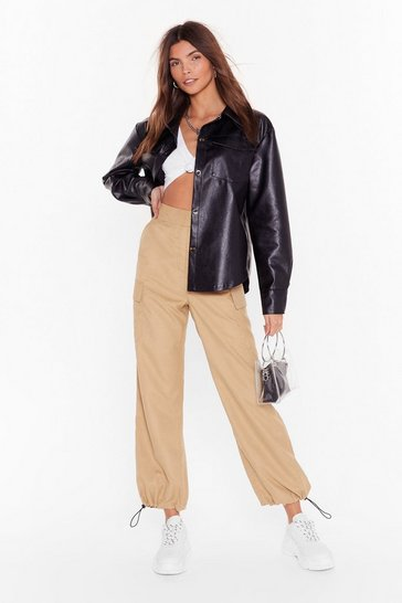 Camel Cargo Without You High-Waisted Pants