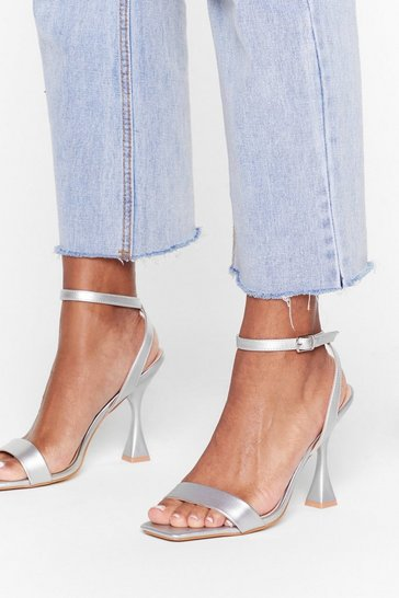 Silver Heel the Deal Metallic Louis Heels