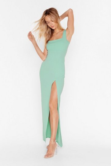 Sage Square With Me Maxi Dress