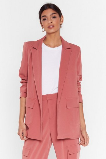Rose Can't Pocket Enough Longline Blazer
