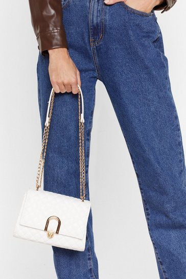 White WANT We Don't Quilt Crossbody Bag