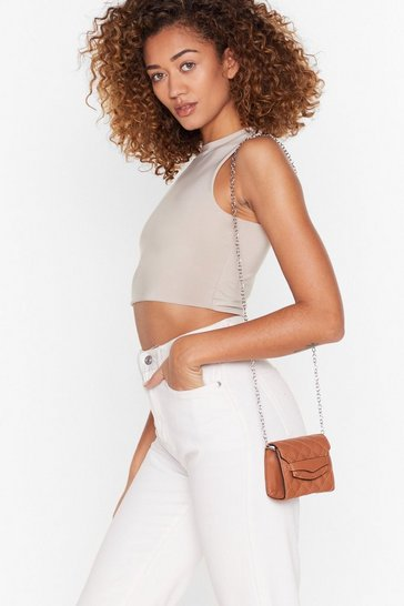 Caramel WANT Quilt Callin' Me Mini Crossbody Bag