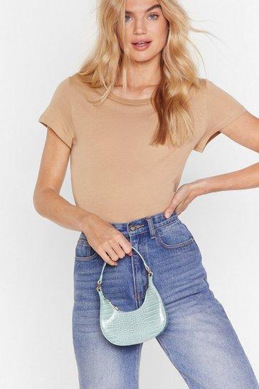Mint WANT Get It While It's Croc Shoulder Bag