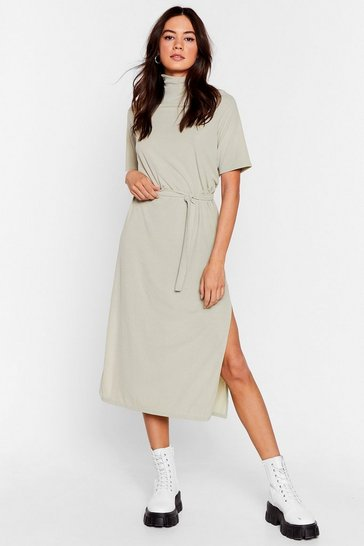 Sage Tee BT Belted Midi Dress