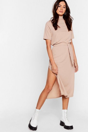 Sand Tee BT Belted Midi Dress