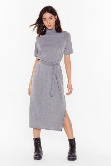 Womens Grey Tee BT Striped Midi Dress