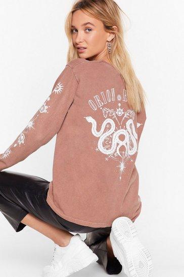 Rust If It's Any Constellation Graphic Sweatshirt