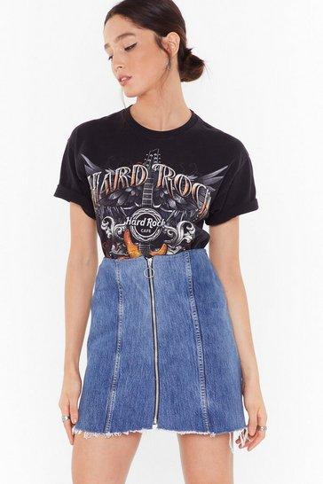 Blue Nasty Gal Vintage Zip Me Up Denim Mini Skirt