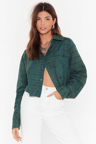 Green Nasty Gal Vintage Shirt Thing Check Shirt