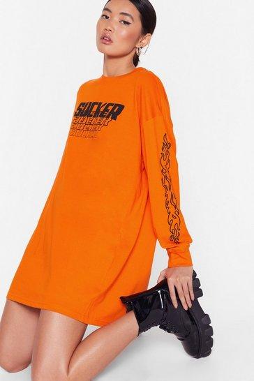 Orange Sucks to Be You Graphic Tee Dress