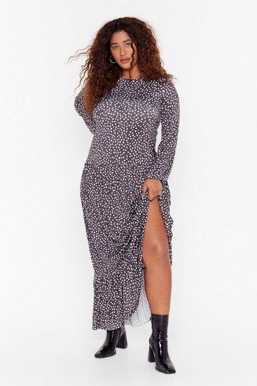 Black You Dot Lucky Plus Maxi Dress