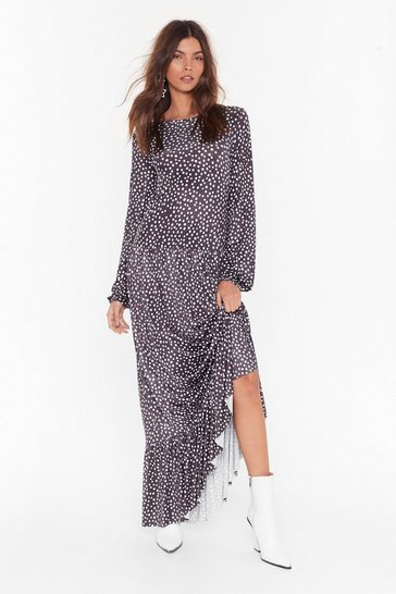 Black You Dot Lucky Relaxed Maxi Dress