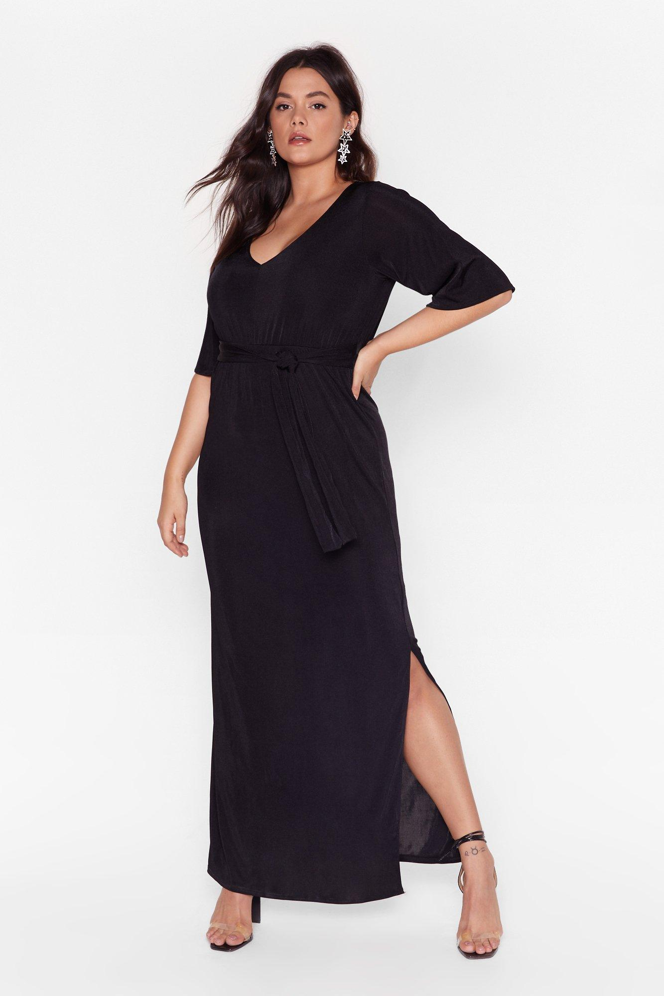 Slit's a Close Call Plus Maxi Dress 11