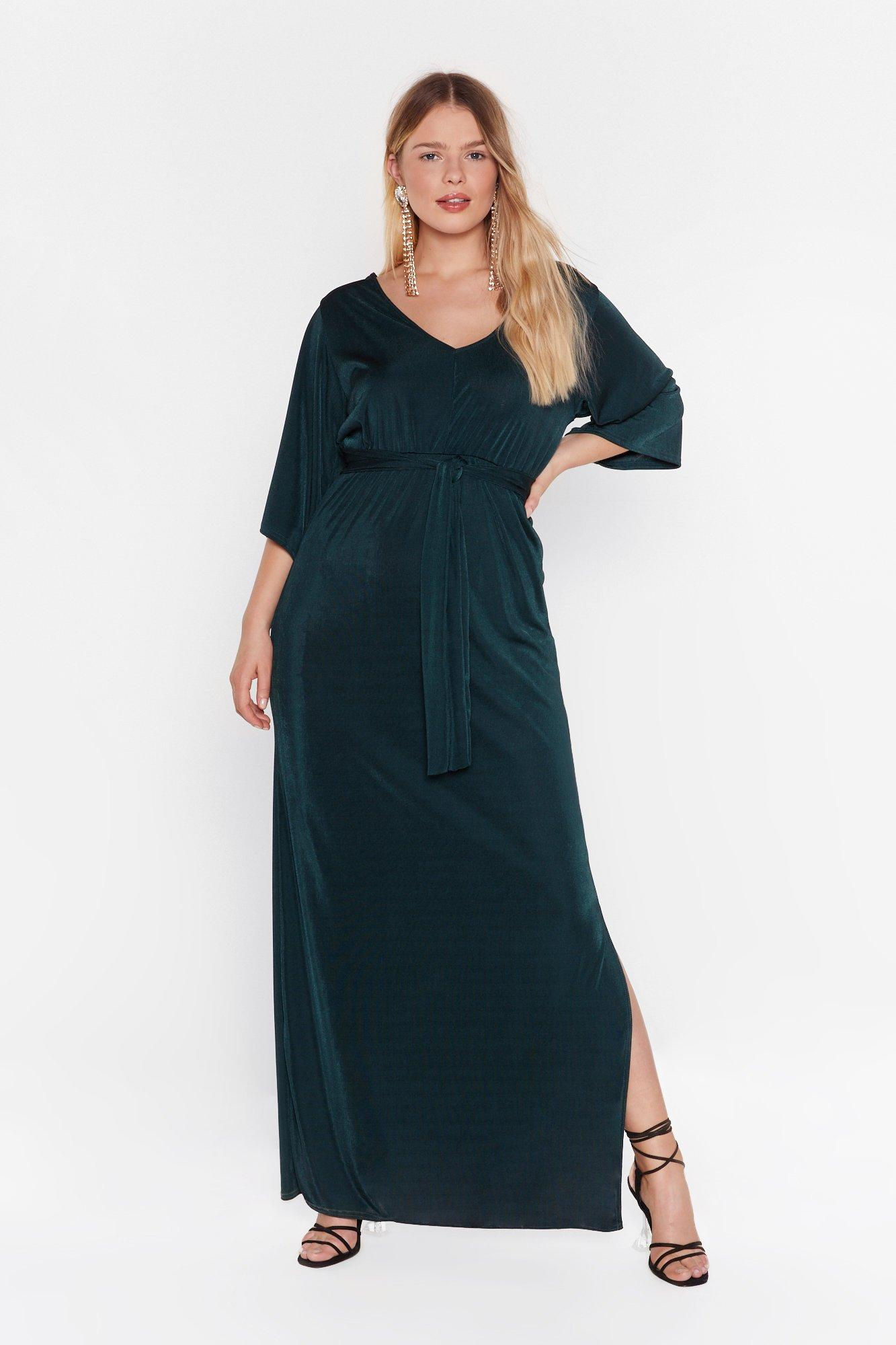 Slit's a Close Call Plus Maxi Dress