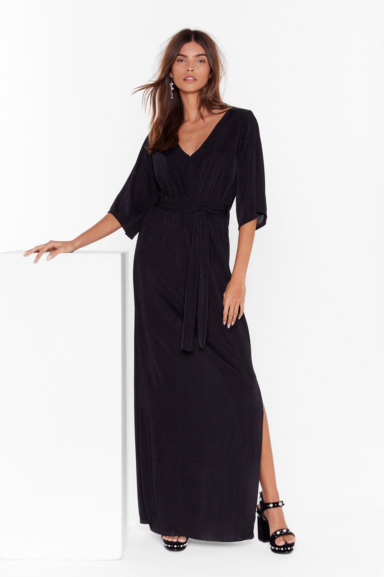 On the Wings of Love V-Neck Maxi Dress