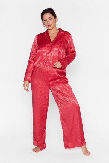 Red Lookin' Spicy Plus Satin Pajama Set