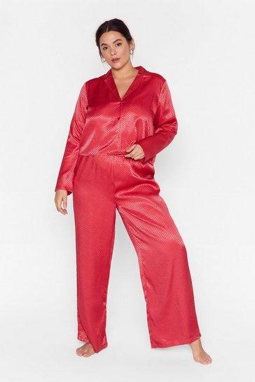 Red Lookin' Spicy Plus Satin Pajama Set
