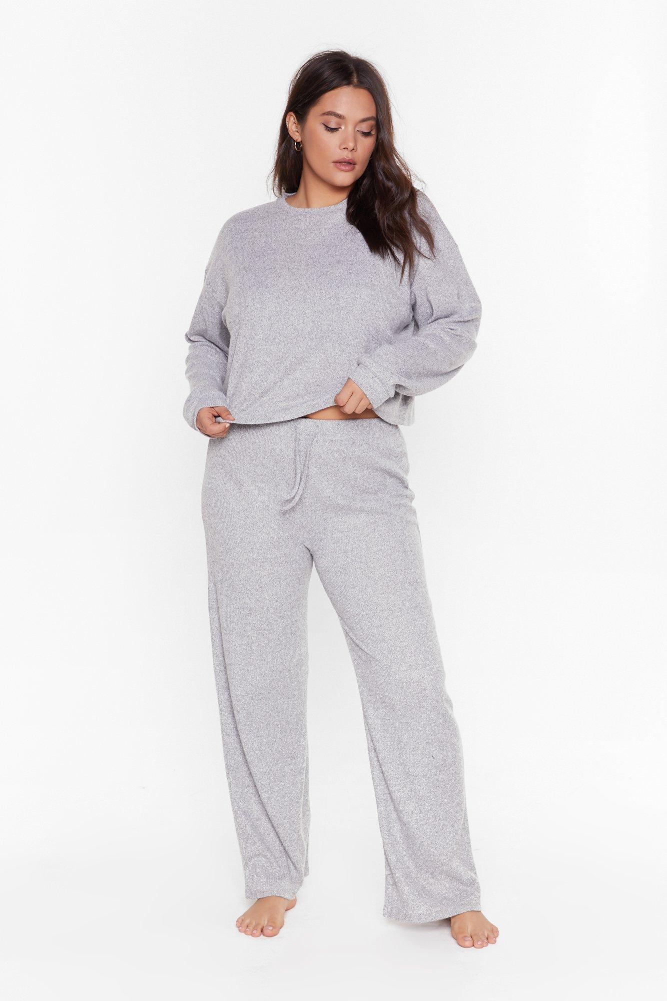 Rib and Repeat Knit Plus Lounge Set 11
