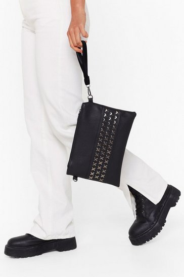 Black WANT Stud Up to 'Em Crossbody Bag