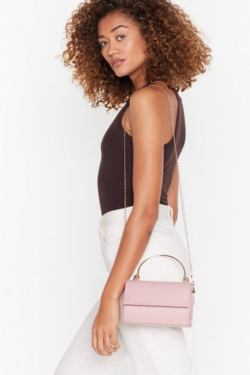 Rose pink WANT Knot Right Now Faux Leather Bag