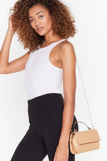 Stone WANT Knot Right Now Faux Leather Bag