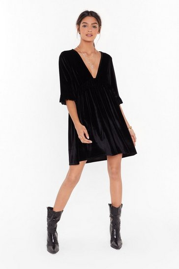 Womens Black You Got the Touch Mini Dress