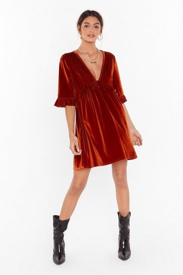 Womens Rust You Got the Touch Mini Dress
