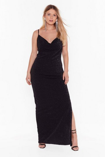 Womens Black The Party's Cowlin' Plus Maxi Dress