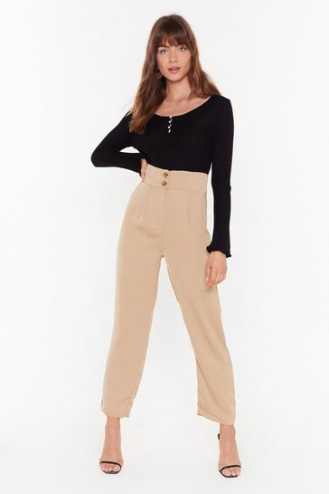 Womens Sand Like It or Not High-Waisted Pants