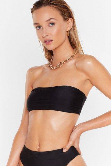 Black 'Tis the Sea-son Bandeau Bikini Top