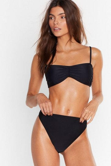 Black Sea if We Care High-Leg Bikini Bottoms