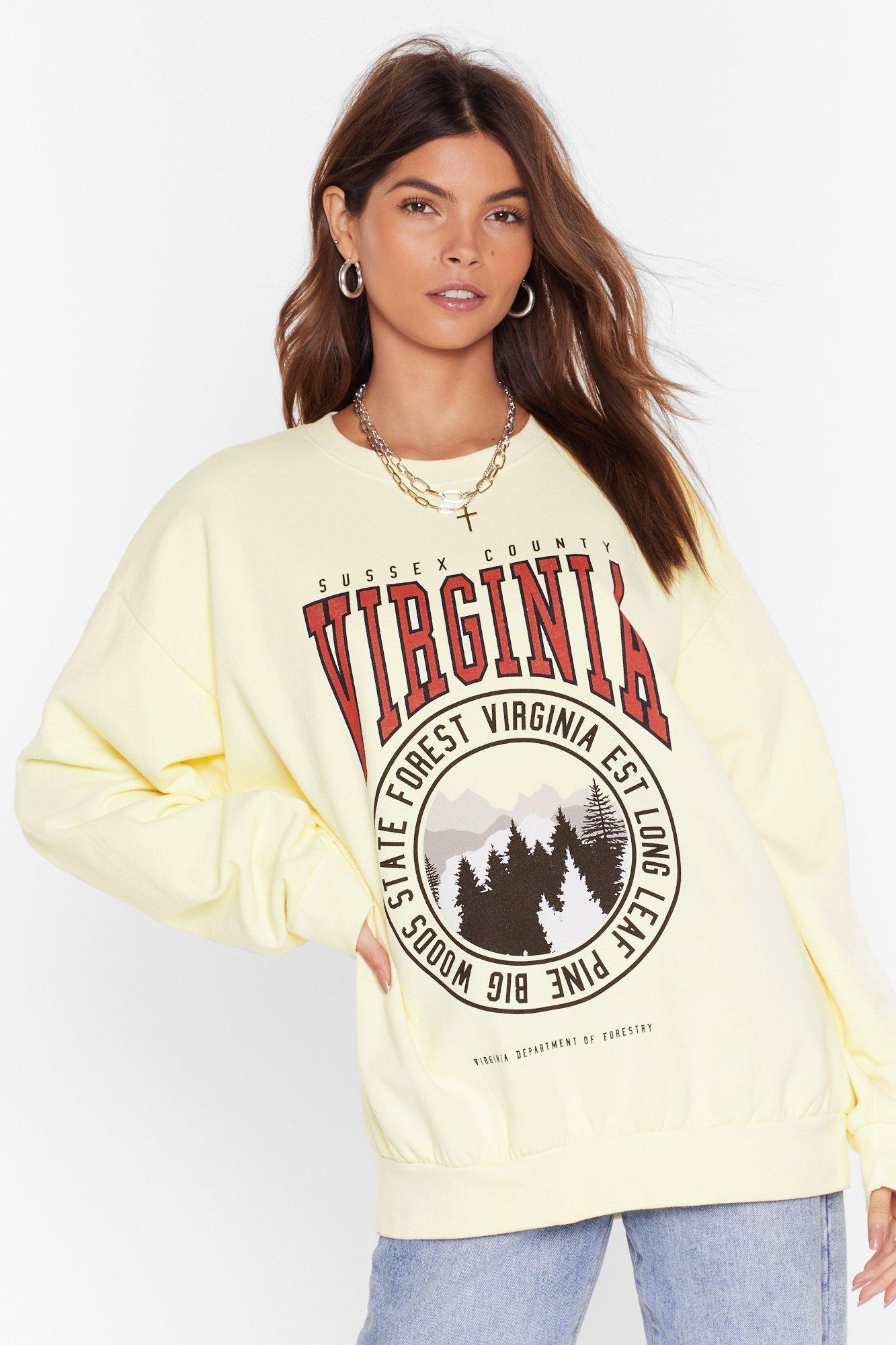 Virginia Forest Graphic Sweatshirt by Nasty Gal