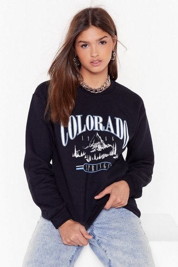 Black Colorado Springs Graphic Sweatshirt