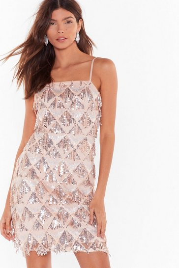 Womens Nude Shake It Off Embellished Mini Dress