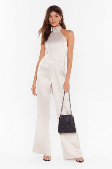 Oyster Independent Women Satin Wide-Leg Pants