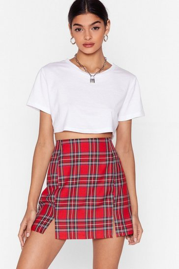 Red Tartan as We Mean to Go On Mini Skirt