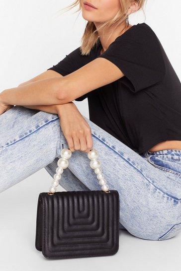 Black WANT Hey Pearl Faux Leather Crossbody Bag