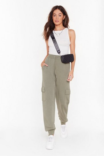 Sage Run Baby Run High-Waisted Cargo Joggers
