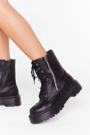 Black A Moment Spike This Faux Leather Boots