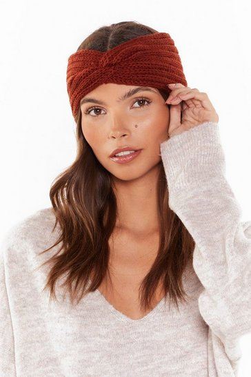 Womens Rust Do You Feel Me Knit Headband