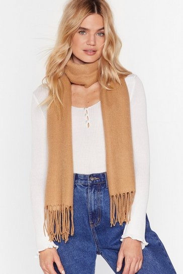 Tan That Ain't the Scarf of It Fringed Scarf
