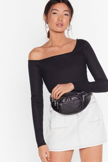 Black What's Your Best Off-the-Shoulder Bodysuit