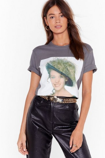 Womens Grey Kylie Minogue Album Graphic Tee